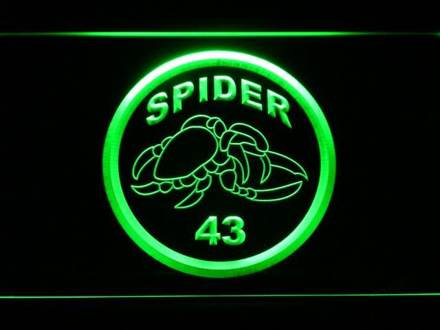 """New York Giants Carl """"Spider"""" Lockhart Memorial LED Neon Sign - Legacy Edition"""