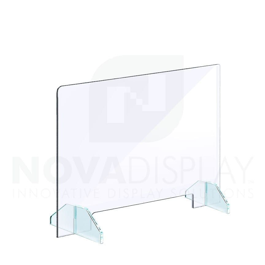 Clear Acrylic Sneeze Guard With Removable Acrylic Base Freestanding In 2020 Sneeze Guard Clear Acrylic Sneeze Guards