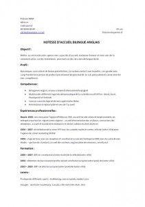 Telecharger Modele Cv Word Hotesse D Accueil Curriculum Vitae Modele Cv Word Hotesse D Accueil Modele Cv