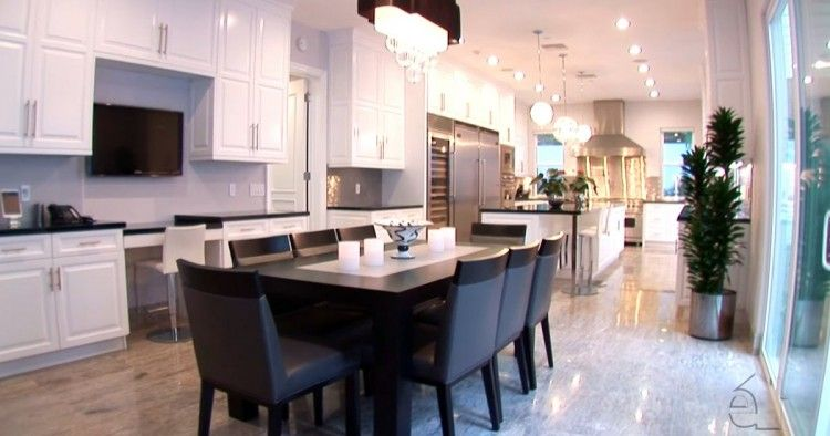 An Informal Dining Room Is Attached To The Giant Kitchen