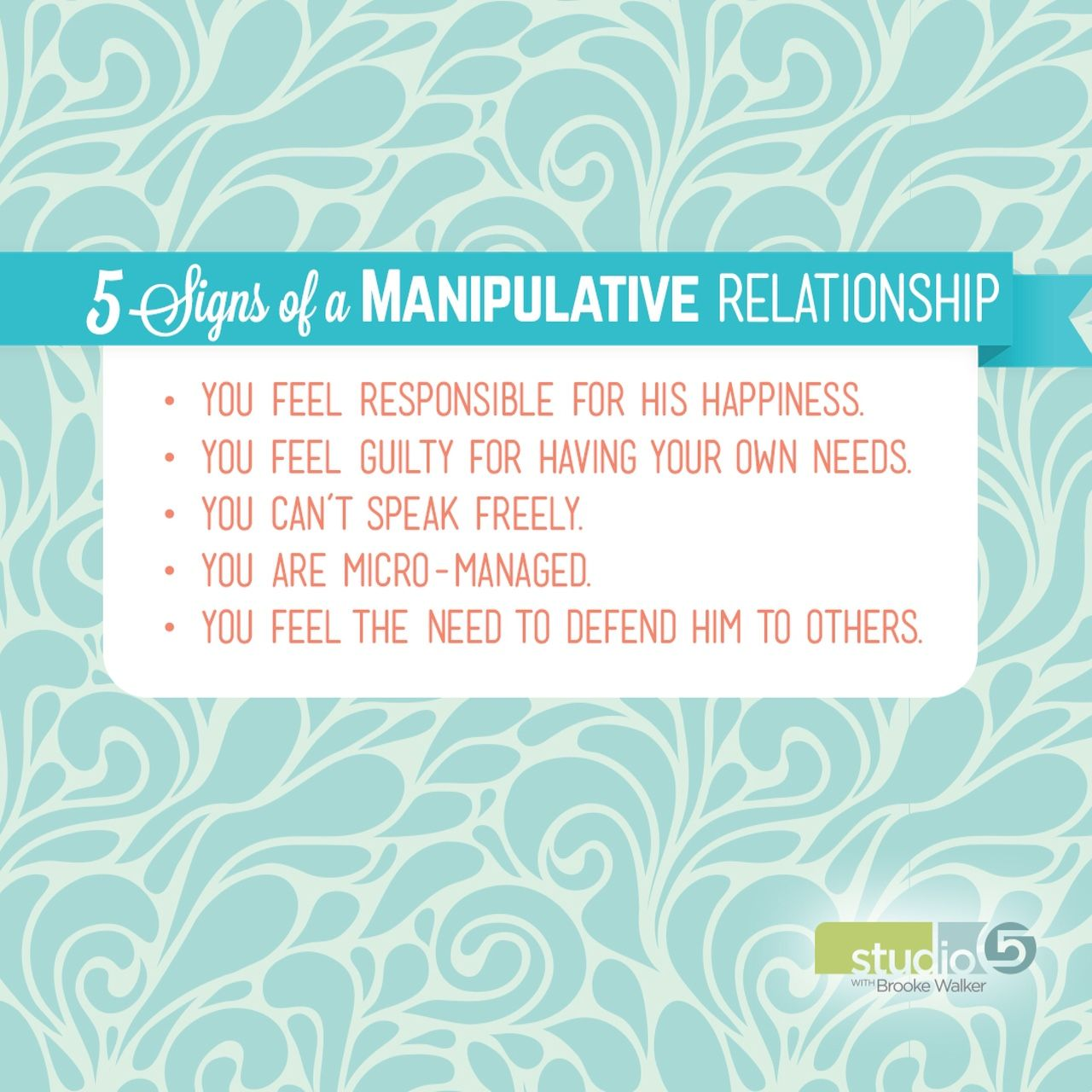 Manipulative men signs