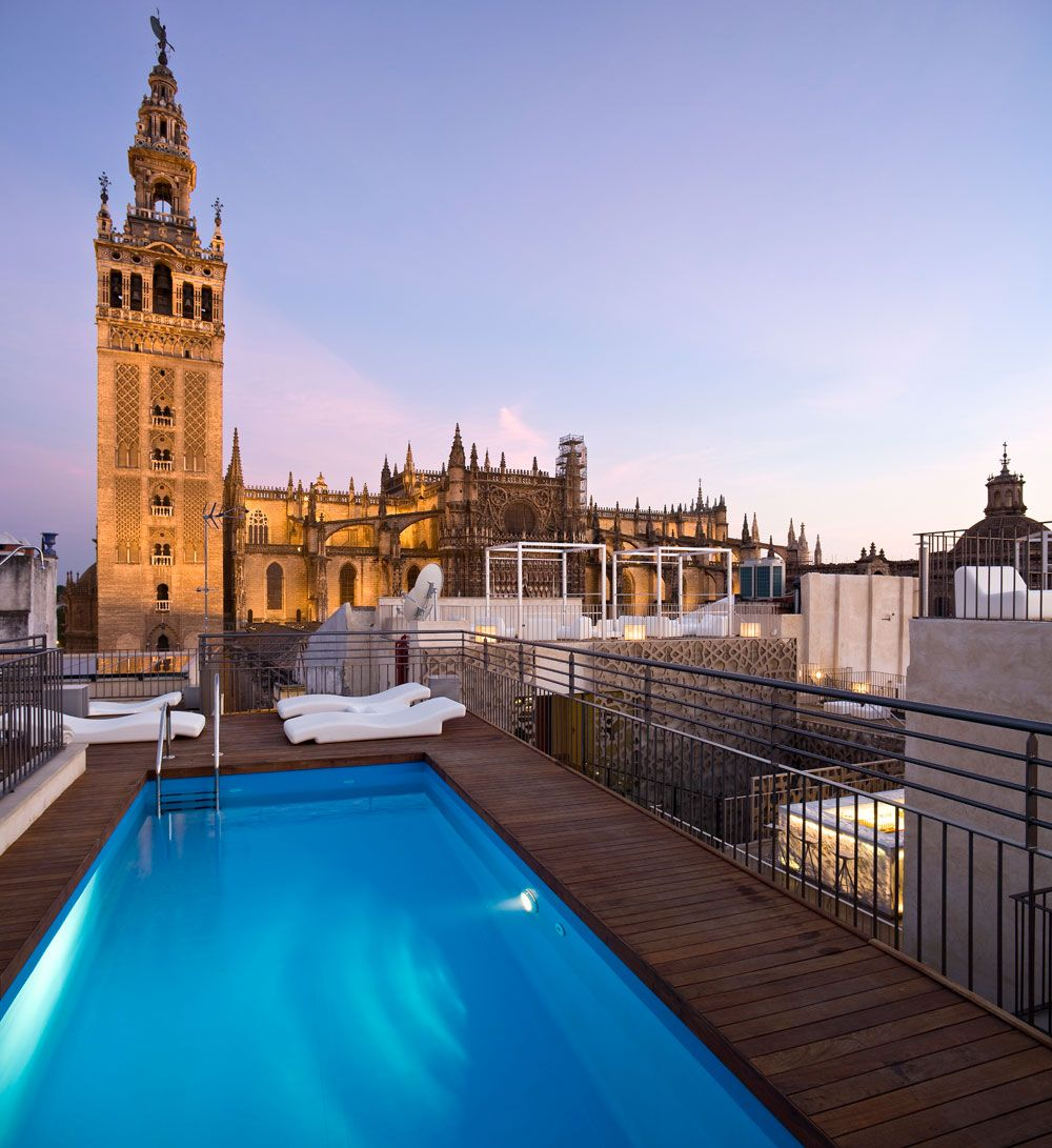 Hotel Eme Hotel Sevilla Terraza Azotea Y Habitaciones De Hotel