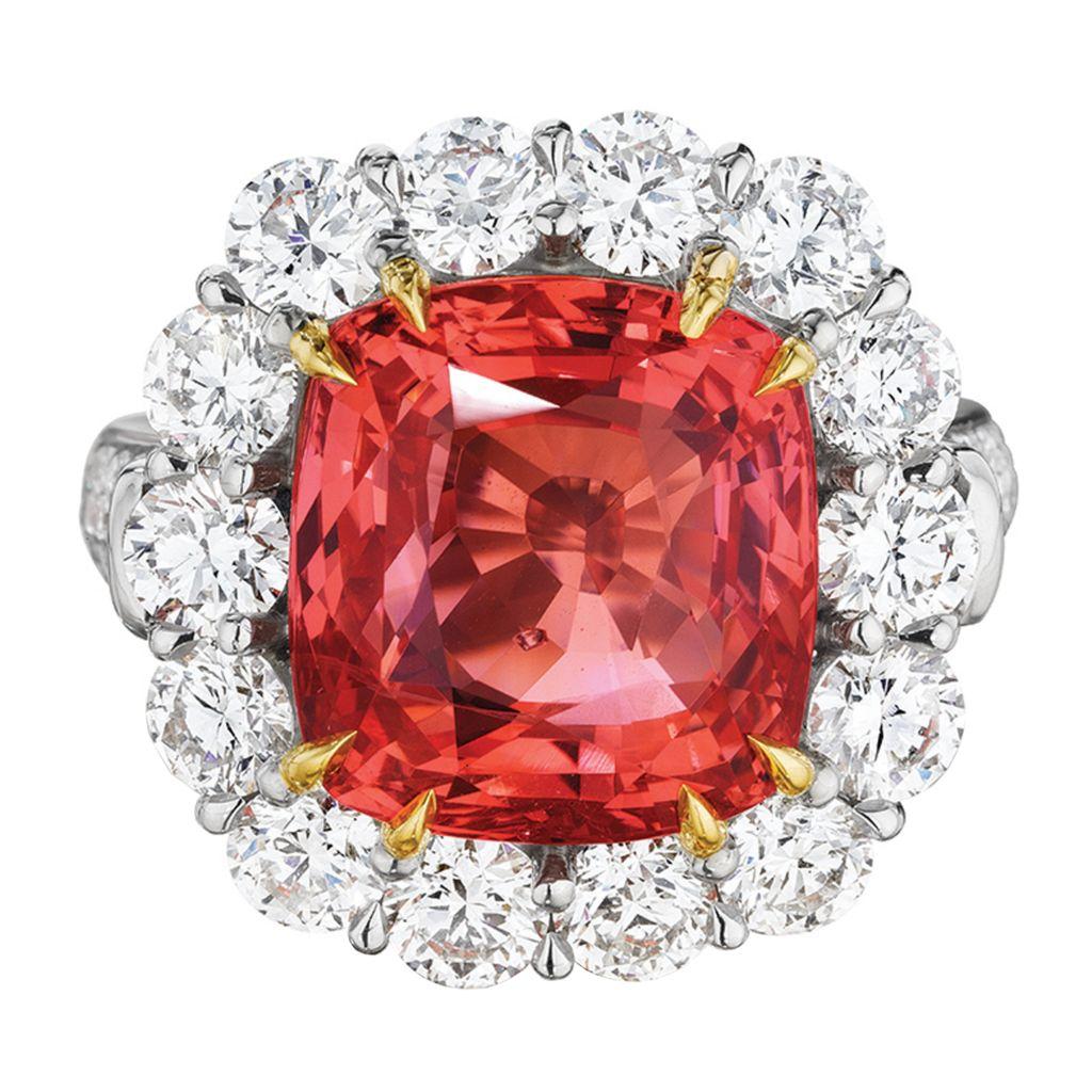 Jeffrey bilgore padparadscha ring jewels pinterest rings