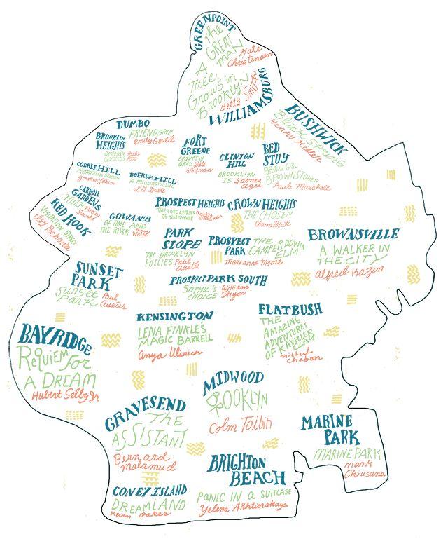 A Brooklyn Literary Map The Best Book for Each Brooklyn