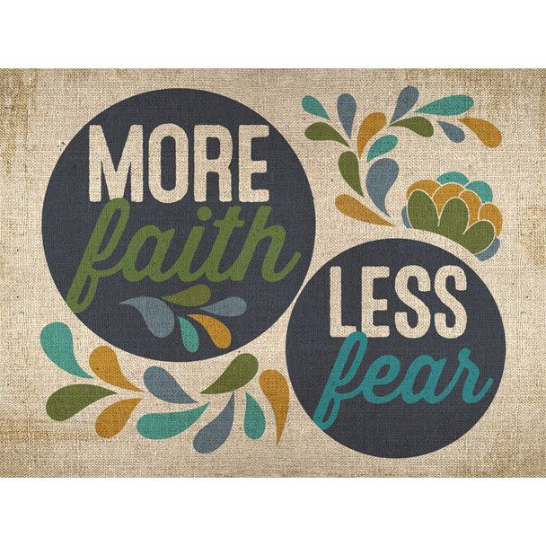 GreenBox Art + Culture 'More Faith, Less Fear' 24 x 18-inch Stretched Canvas Wall Art