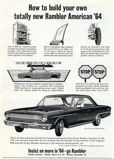 1964 Rambler American Hardtop Old Ads Car Advertising American
