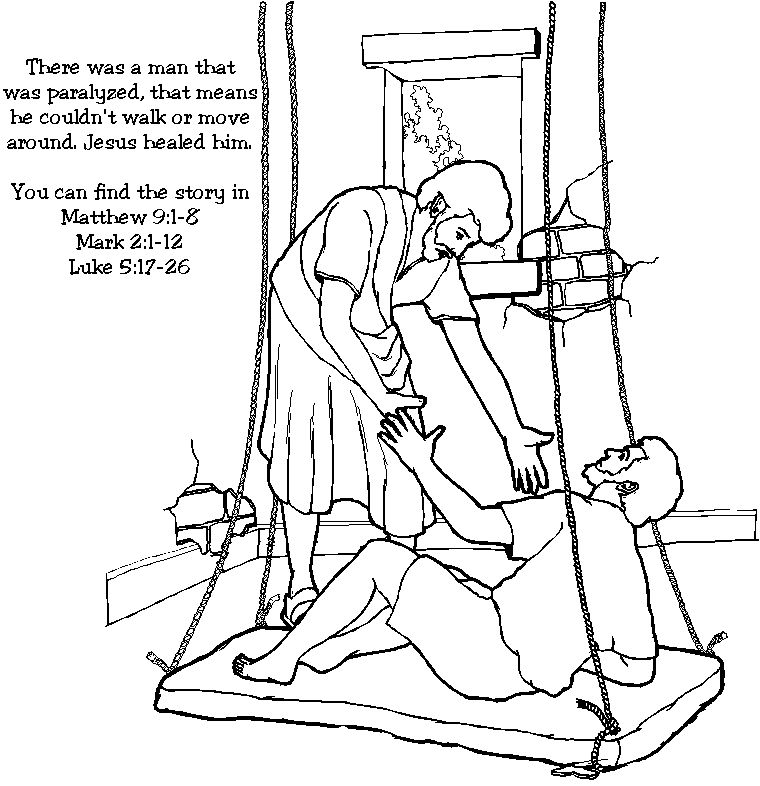 Jesus Heals A Paralyzed Man Miracles Of Jesus Jesus Heals