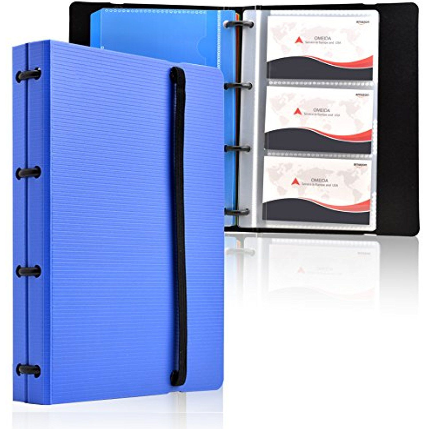 Maxgear Professional Business Card Holders Business Card Book Holder Name Card Organizer Credit Card Holder With 5 Co Business Card Book Card Book Book Holders