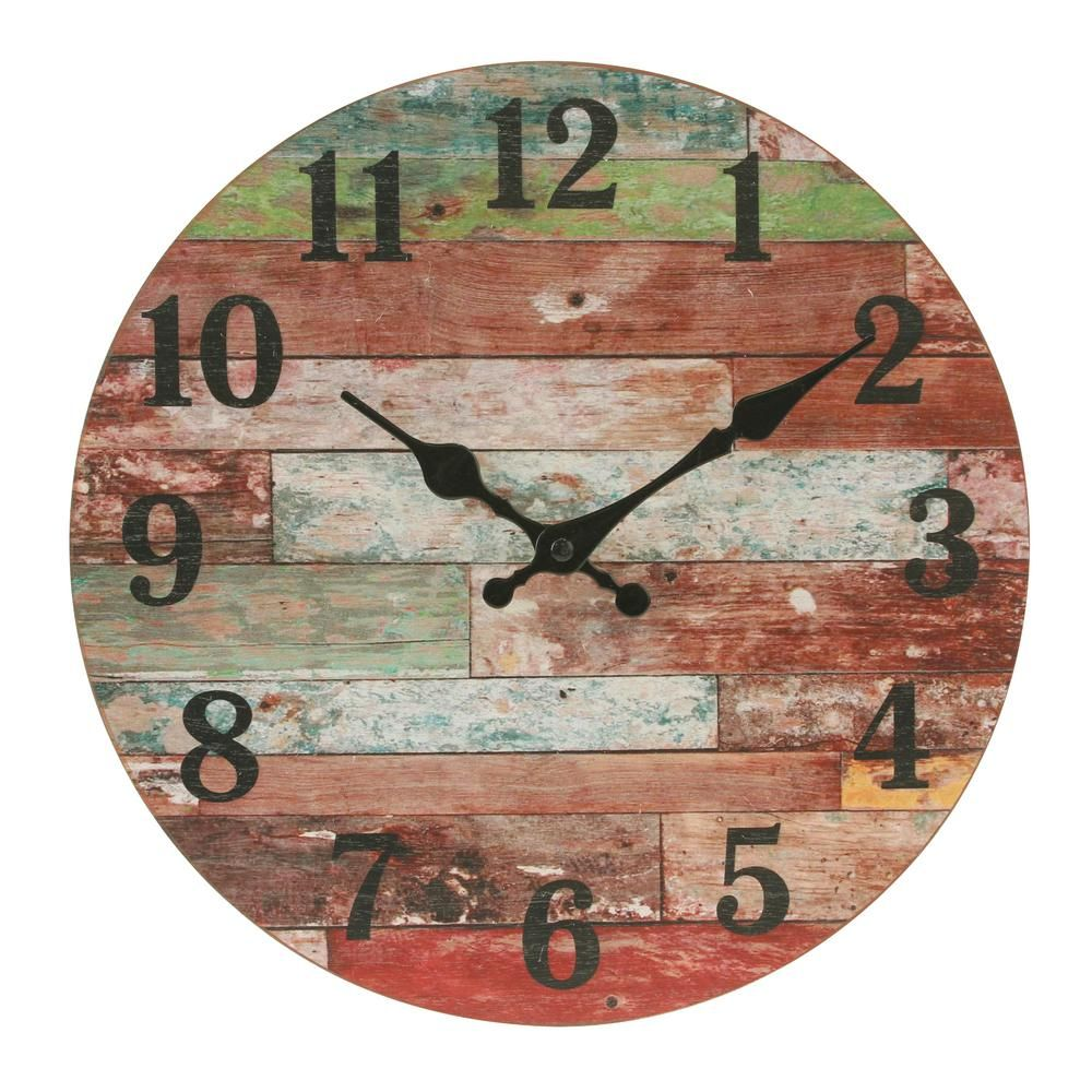 Aioloc 12 Inch Vintage Non Ticking Round Wall Clock Decorative Battery Operated Imitate Wooden Wall Clocks Living Room Kitchen Home Office For Sale Antique Wall Clocks Retro Wall Clock Vintage Wall Clock