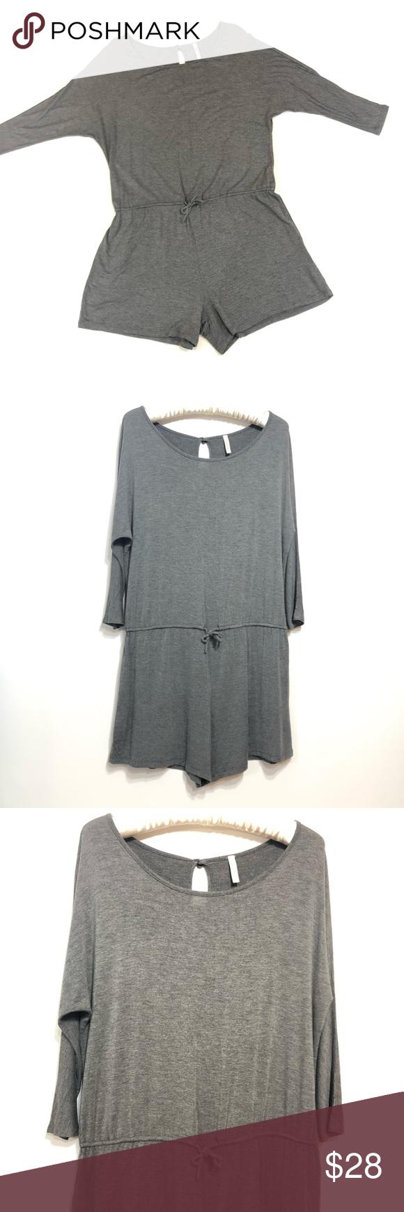 a91dddd7dd3f Tua Gray Jersey Romper Size Medium Gray jersey romper size medium Super soft  and comfortable Three