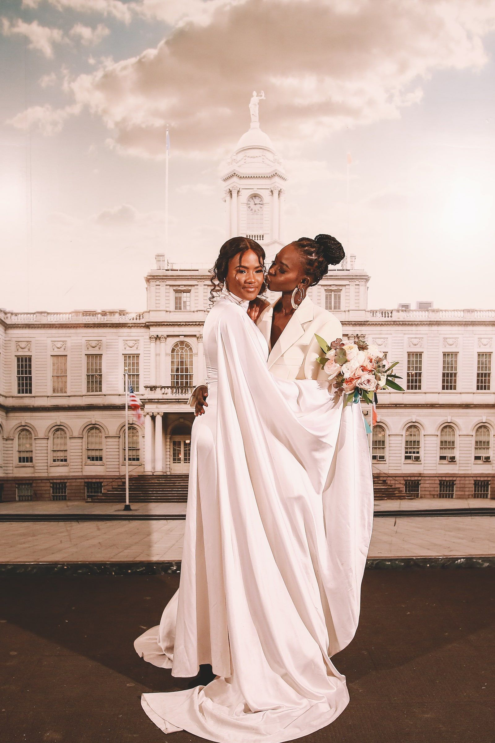 After Marrying At City Hall Model Aweng Ade Chuol And Alexus Ade Chuol Commemorated The Day With Tattoos And Pizza In 2020 Wedding City Hall Wedding Vogue Wedding