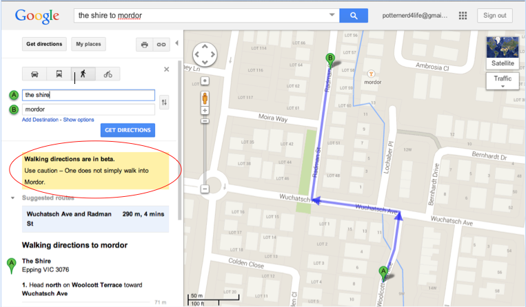 You Said It Google Maps Xd Get Directions One Does Not Simply