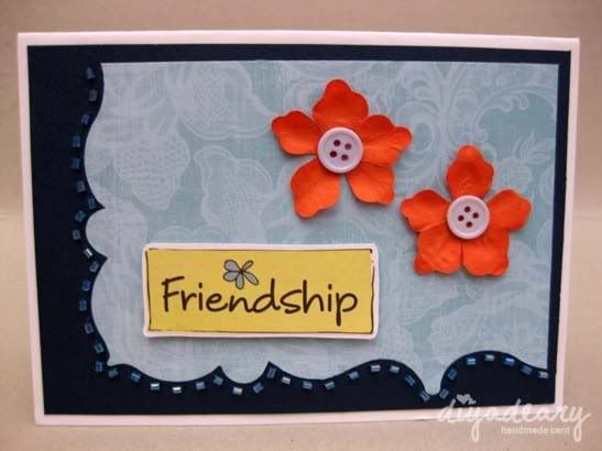 Happy Friendship Day Cards For Best Friend Handmade Quotes