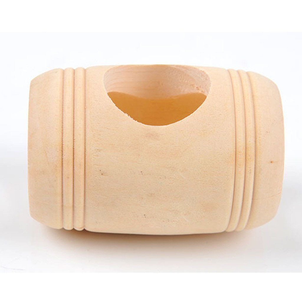 Pet Rat Mice Hamster Wooden Bed House Cage Wine Cask Shape Toy