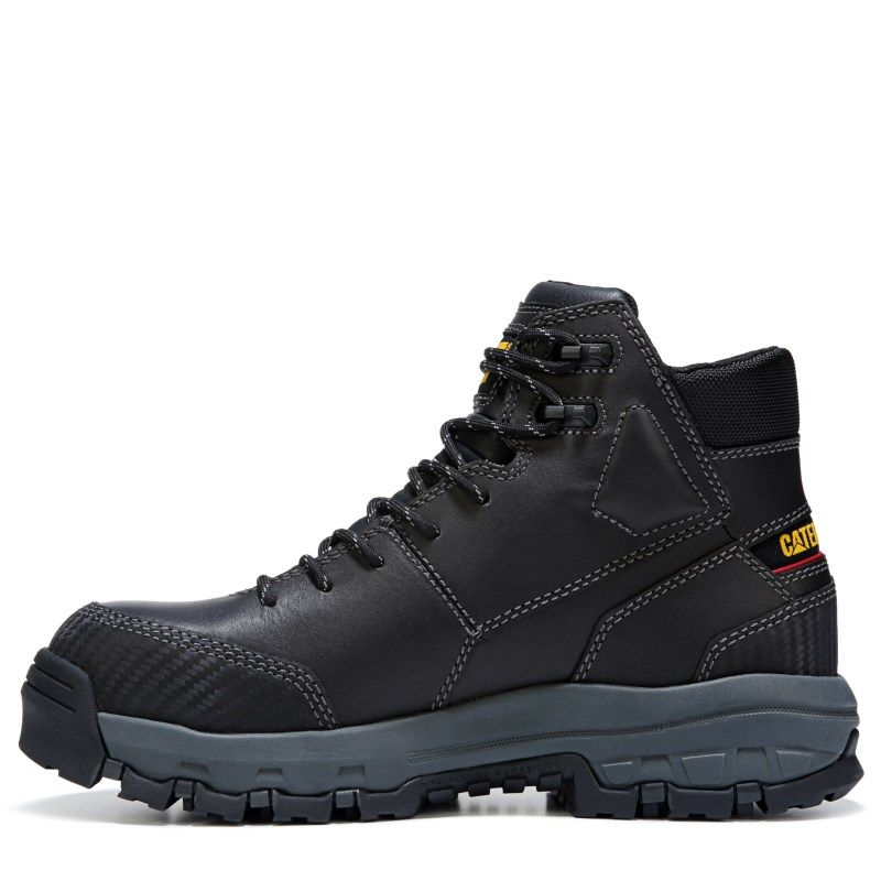 Black · Caterpillar Men's Device Medium/Wide Waterproof Composite Toe Work  Boots (Black Leather) -