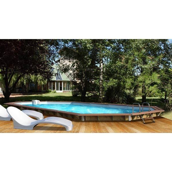 piscine en bois Eau Pinterest Piscine hors sol - piscine hors sol beton aspect bois
