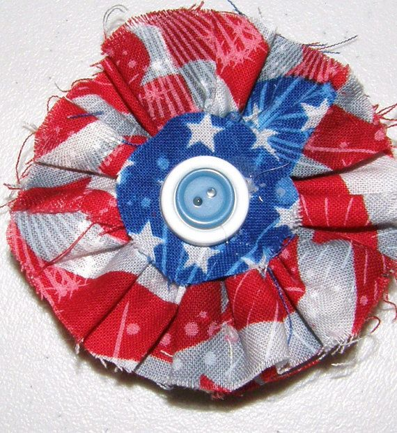 Patriotic red white and blue 4th of July funky by sweetpeppergrass, $6.00
