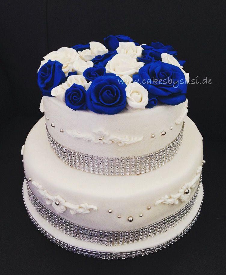 Hochzeitstorte Blaue Rosen Nicht Vergessen Torten