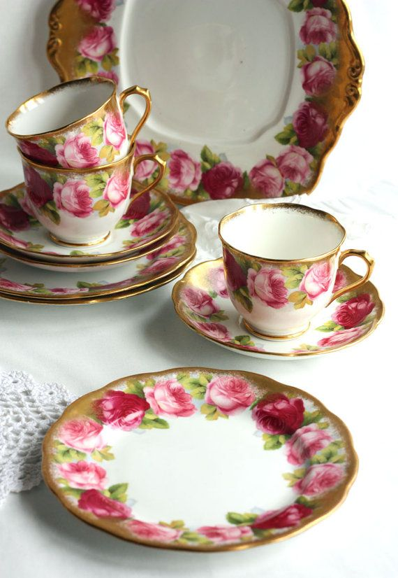 Royal Albert Old English Rose Tea Set Beautiful By Nancystea 29 00