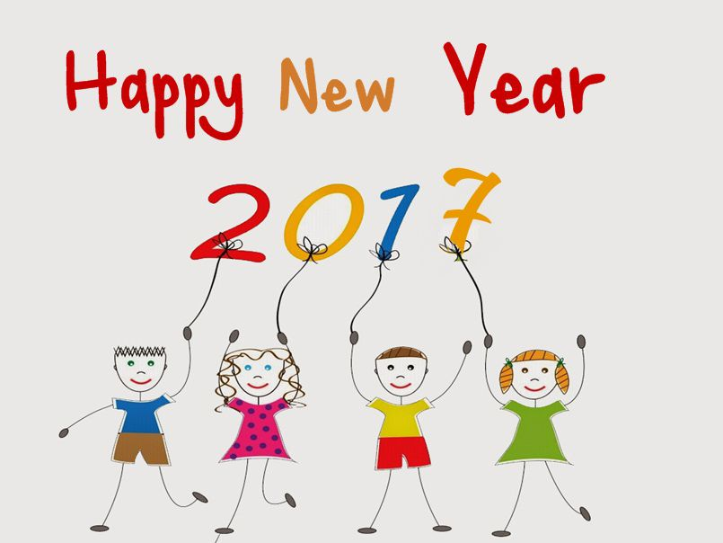 happy new year 2017 images for kids