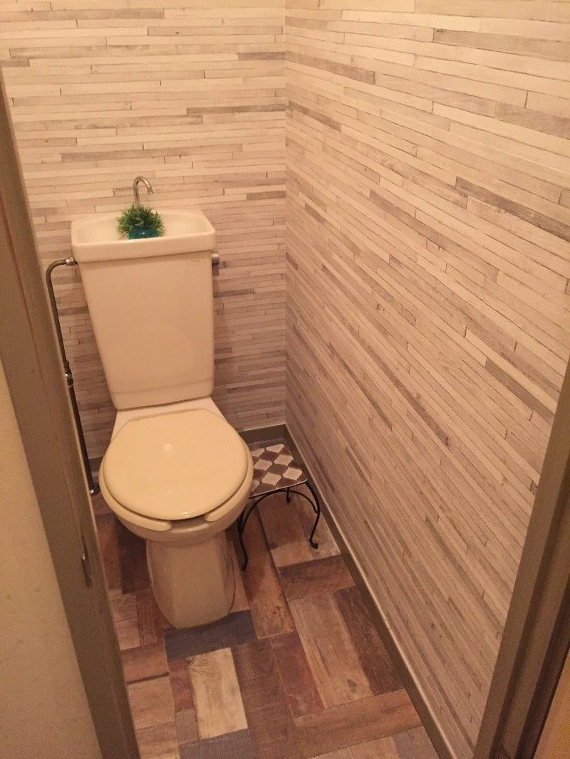お友達のおうち大改造 第三弾 次は洗面所の延長で トイレの床に