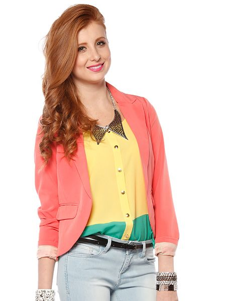 Solid color buttonless jacket $19.99  #solid #buttonless #jacket