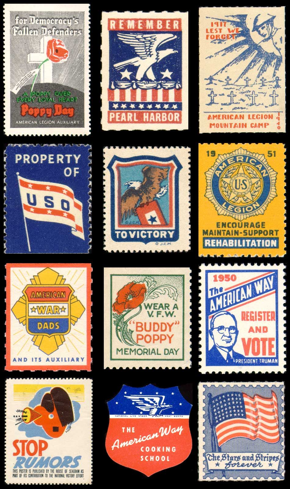 Vintage Americana Post Stamps Were Not A Big Thing Back Then But Now Some People Make Collections Of Them