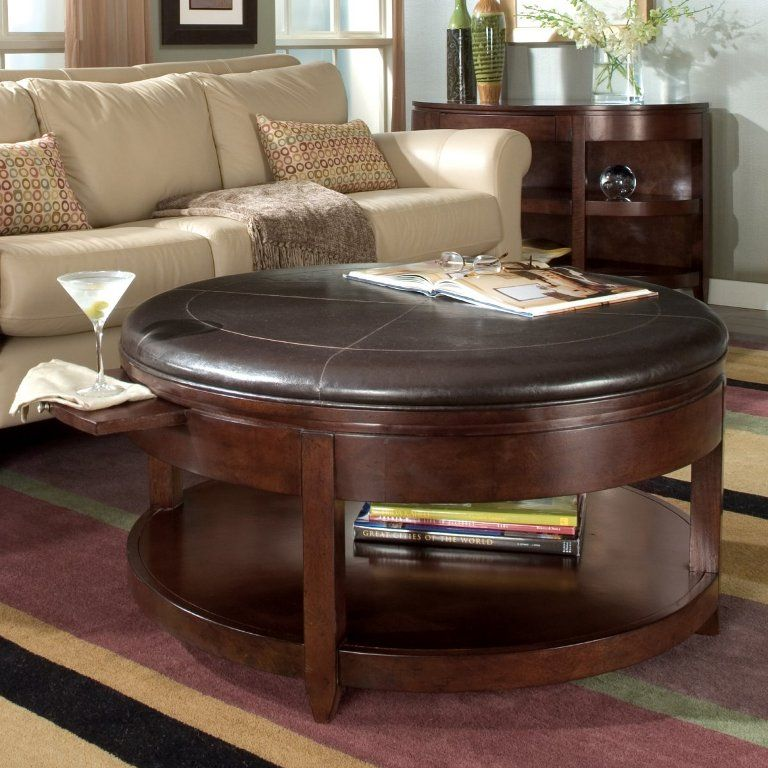 Round Coffee Table Ottoman Chair Round Table Wood And Foam