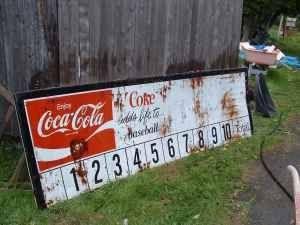 Coca Cola Baseball Scoreboard