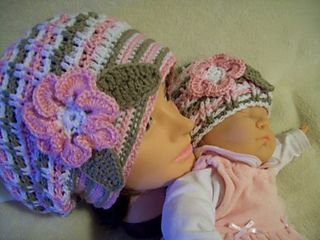 baby daughters hat to go with mothers beret