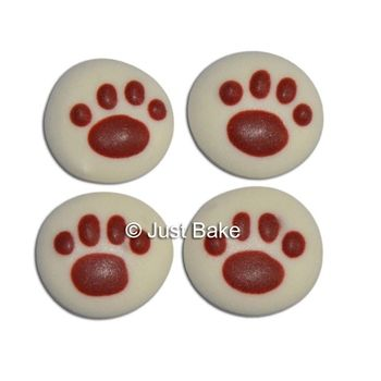 Paw Print Cupcake Decorations