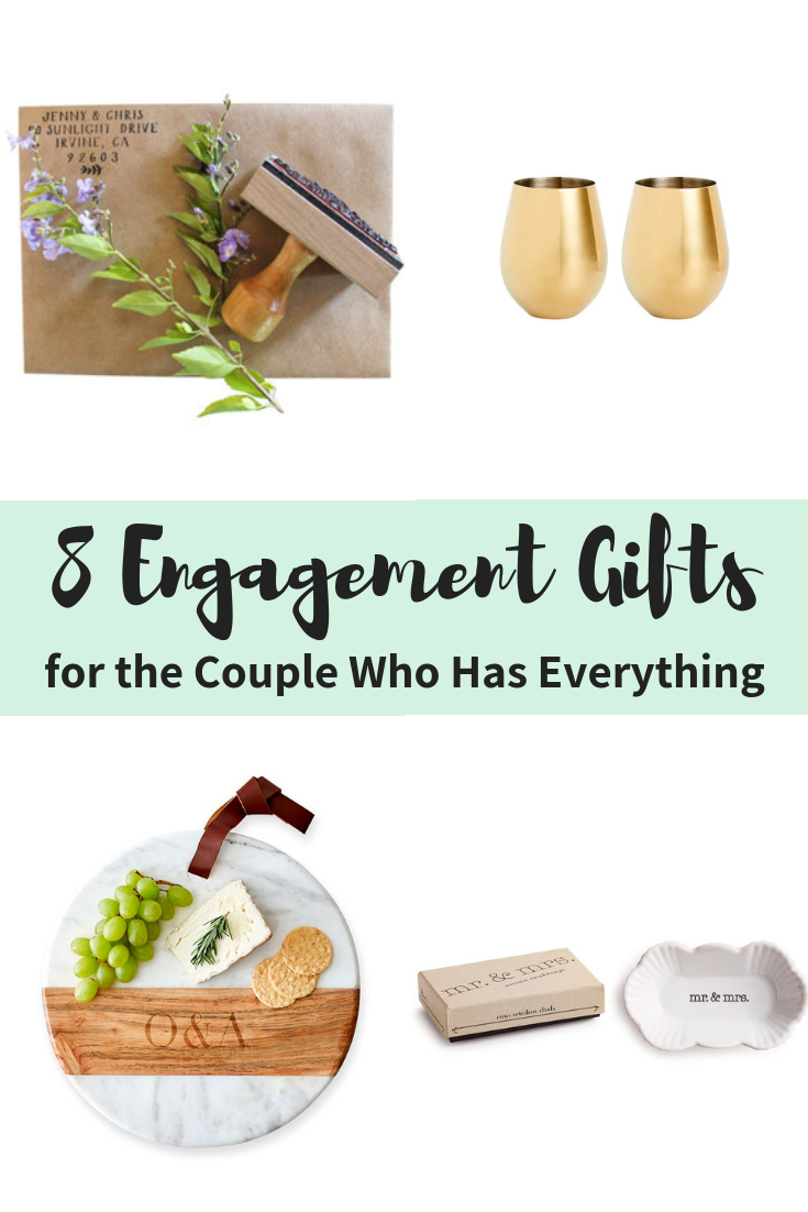 8 Creative Engagement Gift Ideas for the Couple Who Has