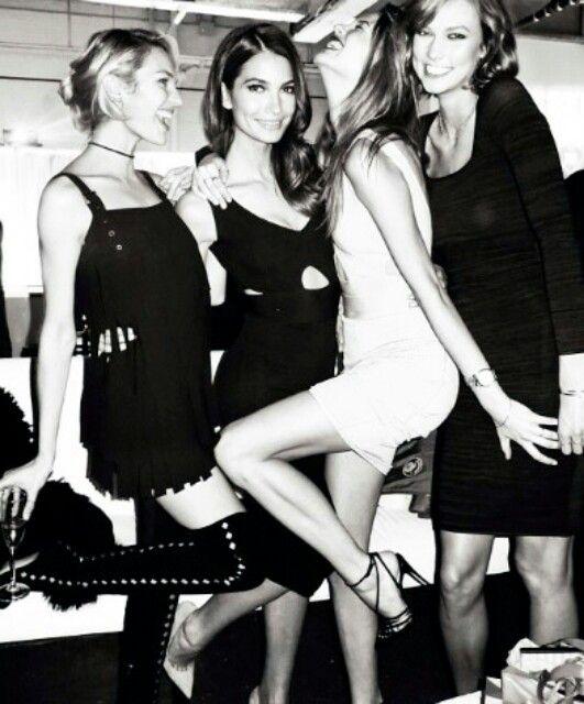 Candice , Lily , Behati , Karlie
