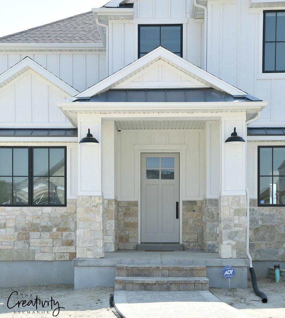 Modern Farmhouse Door Exterior Shot Elevation Homes Utah
