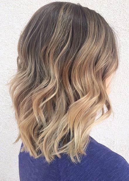 Coupe cheveux aux épaules le bob long Idée couleur