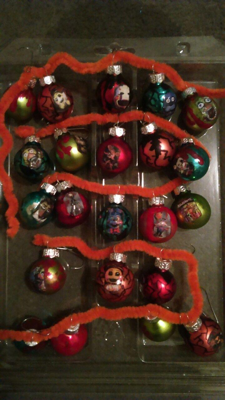 Fnaf Christmas.Fnaf Christmas Ornaments Fnaf Party Christmas Ornaments