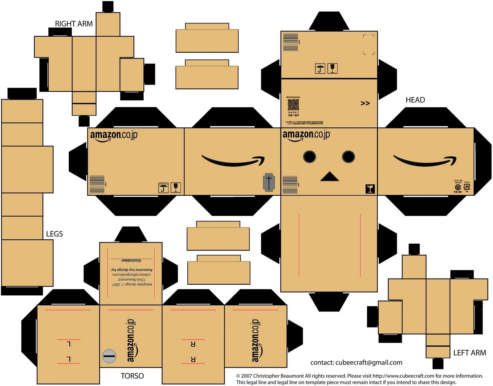 Anime Papercraft Templates Up to the Sky Danbo, Paper