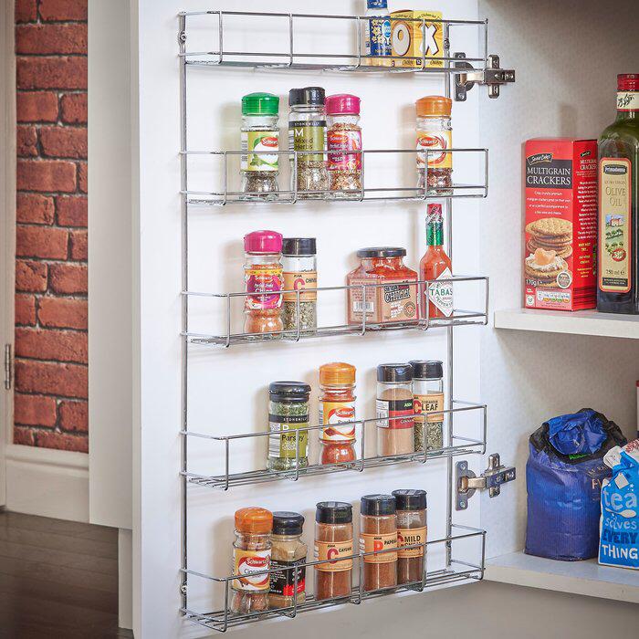 Vonshef 40 Jar Spice Rack Reviews Wayfair Wall Mounted Storage Shelves Wall Mounted Spice Rack Cabinet Spice Rack