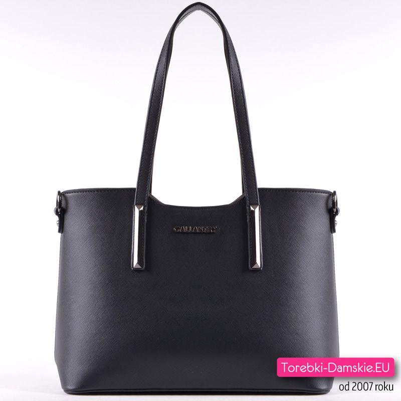 Markowa czarna torebka damska w modnym stylu | Torebka
