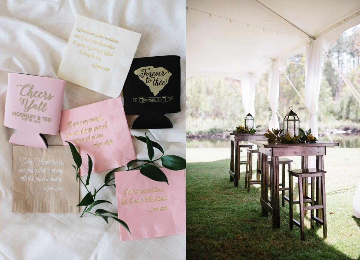 Pink and Gold Elegant Southern Details for an at Home Wedding