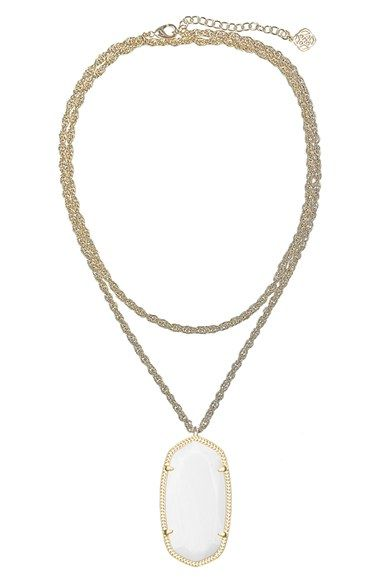 LOVE, LOVE, LOVE!! Kendra Scott 'Rae' Long Pendant Necklace available at #Nordstrom