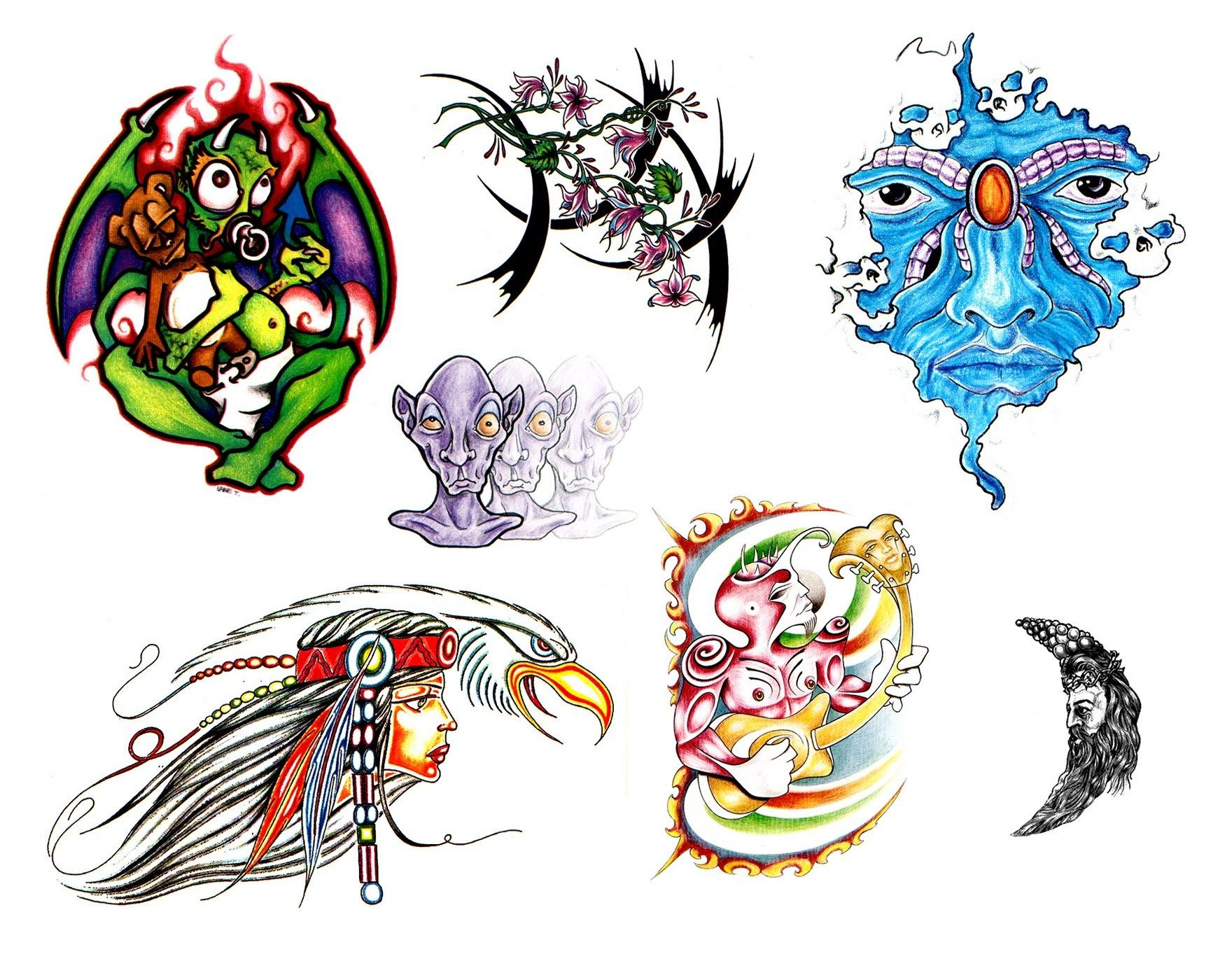1760x1383px tattoo backgrounds for laptop by Halston Gordon