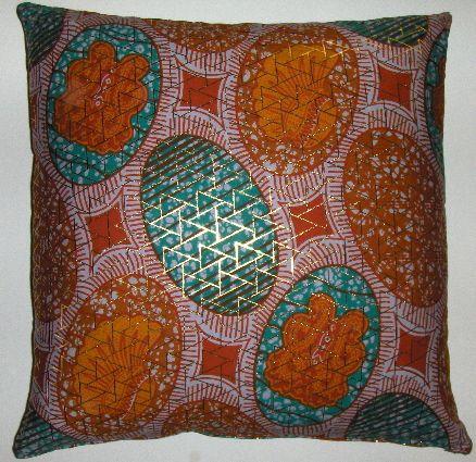 Dutch wax printed cotton pillow cover