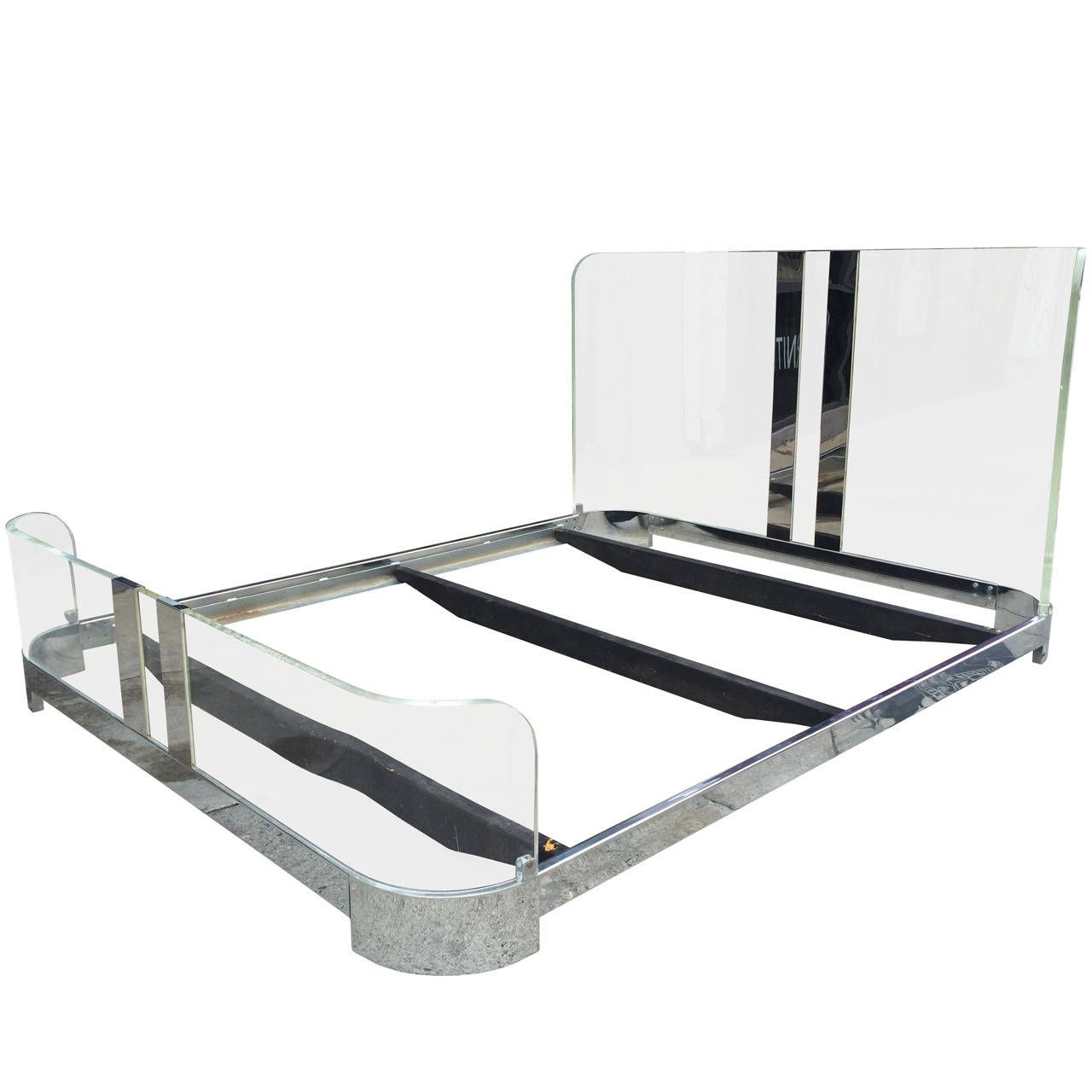 daec5b85fc87 Lucite and Chrome Four Post Canopy Bed King-Size Vintage Headboard Mid- Century. Browse page 3 of 3 for Beds. Check out the price value of Beds and  then bid ...