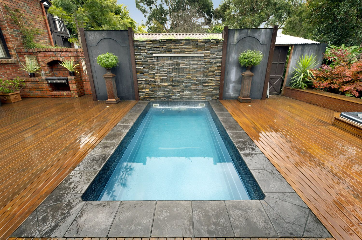 Mural Of Plunge Pool Cost Estimation Small Backyard Pools Small