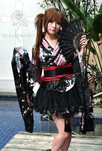 Kleidung & Accessoires Punk Rave Kimono Rot Red Dress Visual Kei Jacken, Mäntel & Westen