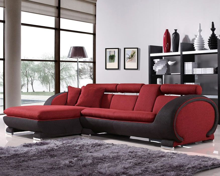 L Shaped Sofas Recliner Cup Holder Shape Modern Dual Tone