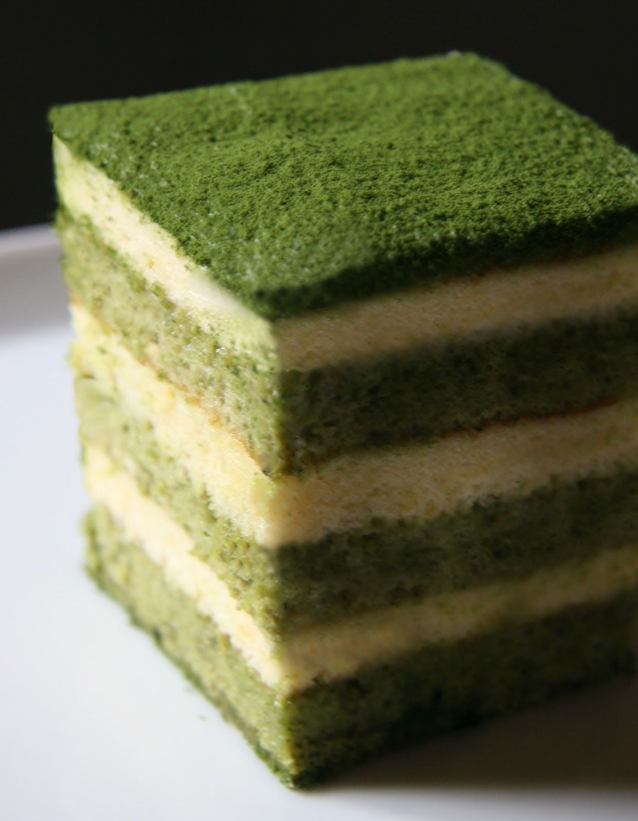 Green Tea Cake Roll With Red Bean Filling