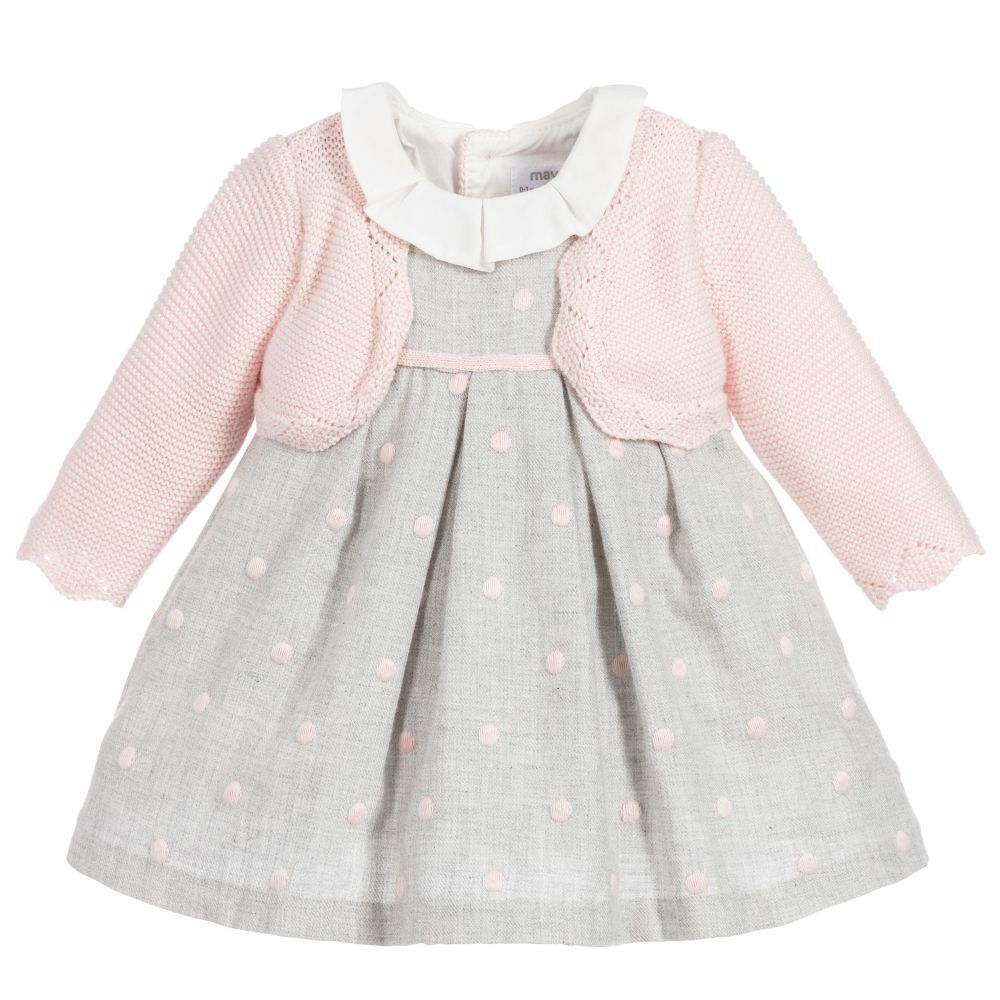 Mayoral Baby Girls Floral Embroidered Tulle Social Dress