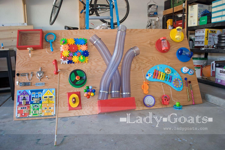 Lady Goats Build It Diy Sensory Board Diy Busy Board Busy